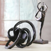 Aluminum Knot Sculpture, Black - Accessories - High Fashion Home