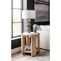 American Life Amani Round End Table
