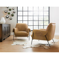 Ambroise Leather Club Chair, Saddlebag Coin - Modern Furniture - Accent Chairs - High Fashion Home