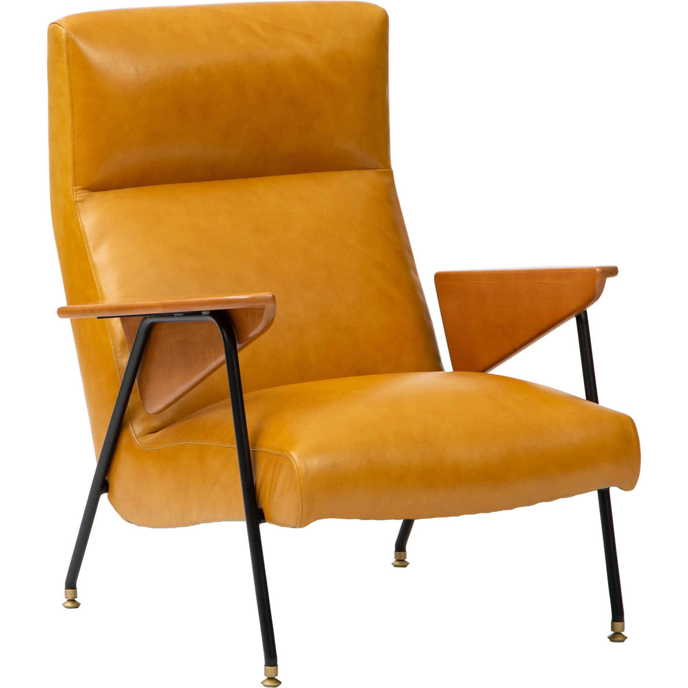 Amelia Leather Chair, Everest Glow - Modern Furniture - Accent Chairs - High Fashion Home