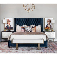 Amelia Tall Bed, Brussels Atlantic - Modern Furniture - Beds - High Fashion Home