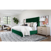 Amelia Tall Bed, Vance Emerald - Modern Furniture - Beds - High Fashion Home