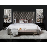 Amelia Tall Bed, Brussels Charcoal - Modern Furniture - Beds - High Fashion Home