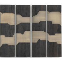 Antigua Wall Panel, Dark Totem, Set of 4 - Accessories - High Fashion Home