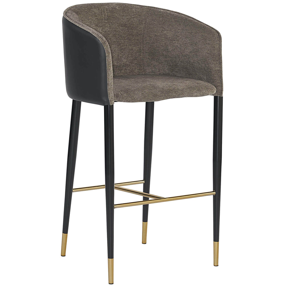 Asher Bar Stool, Sparrow Grey - Furniture - Dining - High Fashion Home