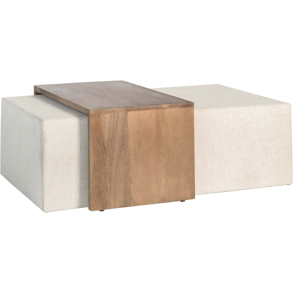 Asher Ottoman, Subtle Linen - Modern Furniture - Coffee Tables - High Fashion Home