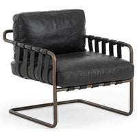 Atticus Leather Chair, Sonoma Black - Modern Furniture - Accent Chairs - High Fashion Home