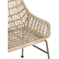 Bandera Outdoor Woven Dining Chair, Vintage White - Furniture - Dining - High Fashion Home