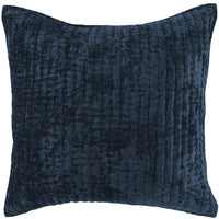 Bari Velvet Sham, Ocean Blue - Accessories - High Fashion Home