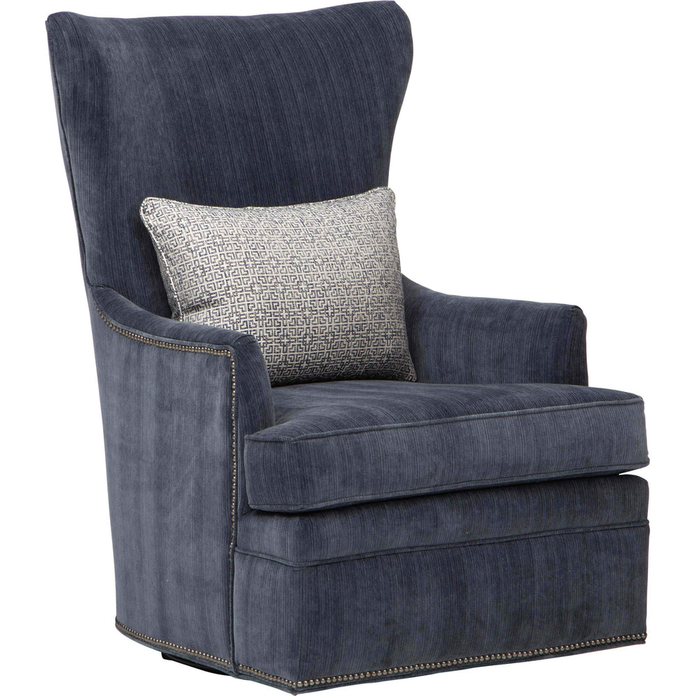 Beck Swivel Chair, Emory Navy - Furniture - Chairs - High Fashion Home