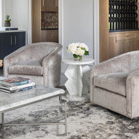 Belasco Side Table, White Marble - Furniture - Accent Tables - High Fashion Home
