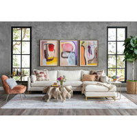 Benson Sectional, Nomad Snow - Modern Furniture - Sectionals - High Fashion Home