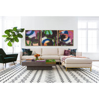 Blair Sectional, Crevere Cream - Modern Furniture - Sectionals - High Fashion Home