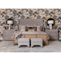 Boheme Bon Vivant De-Constructed Upholstered Bed - Modern Furniture - Beds - High Fashion Home