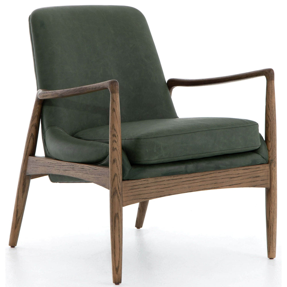 Braden Leather Chair, Eden Sage - Modern Furniture - Accent Chairs - High Fashion Home