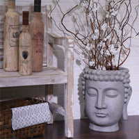 Buddha Flower Pot, Gray - Accessories - High Fashion Home