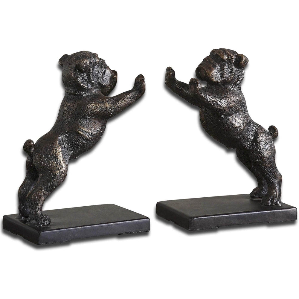 Bulldogs Bookends, Set of 2 - Accessories - High Fashion Home
