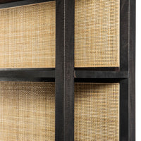 Caprice Large Bookshef, Black Wash-Furniture - Storage-High Fashion Home