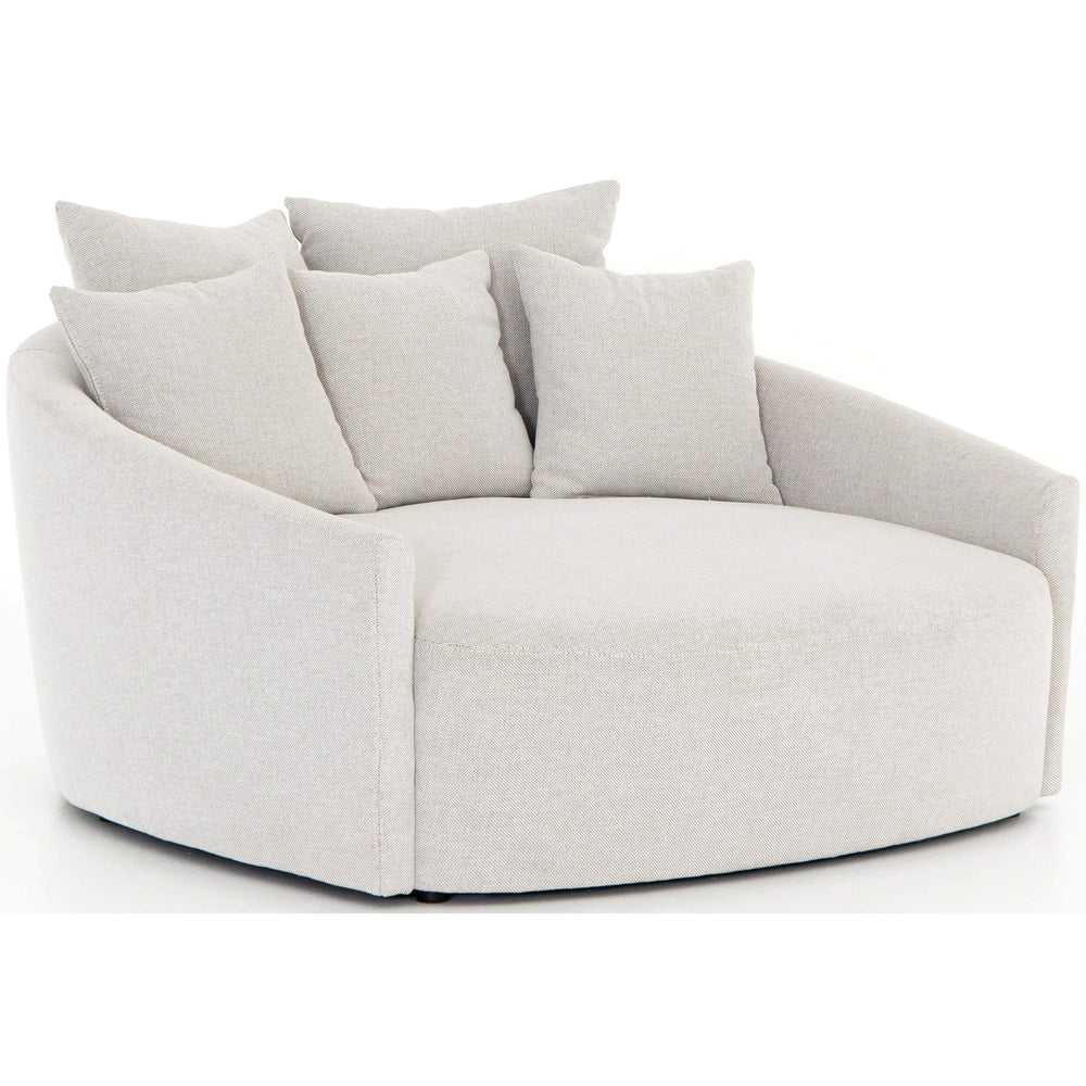Chloe Media Lounger, Delta Bisque - Modern Furniture - Accent Chairs - High Fashion Home