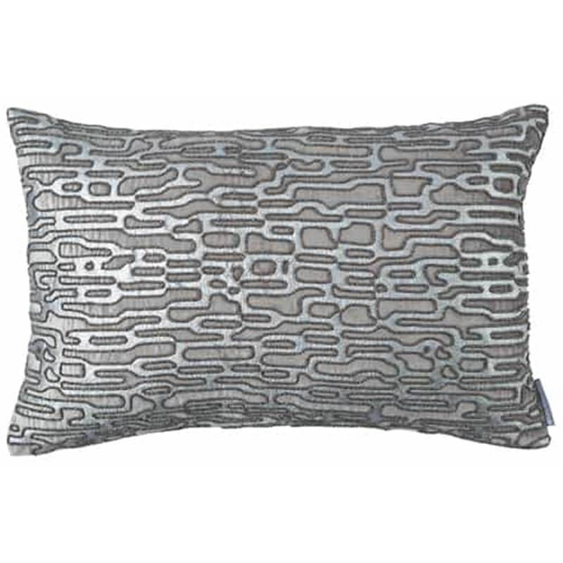 Christian Small Lumbar Pillow, Platinum with Silver Beads - Accessories - High Fashion Home