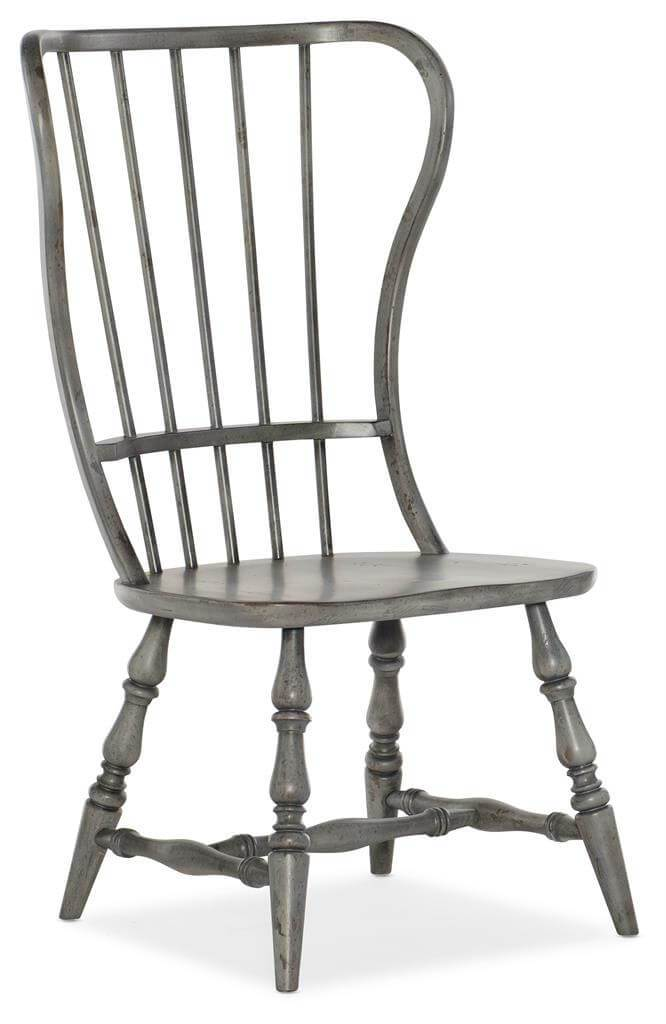 Ciao Bella Spindle Back Side Chair, Speckled Gray, Set of 2 - Furniture - Dining - High Fashion Home