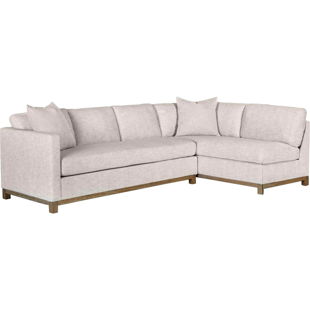 Clayton Sectional, Tweed Alabaster - Modern Furniture - Sectionals - High Fashion Home
