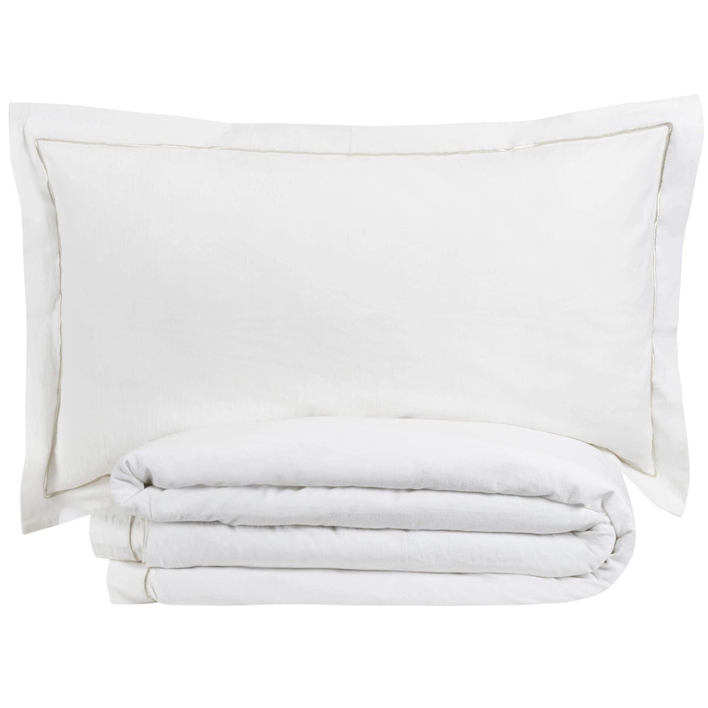 Cloud 9 Prato Duvet Set, Ivory - Accessories - High Fashion Home
