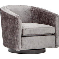 Coltrane Swivel Chair, Vanquish Grey - Modern Furniture - Accent Chairs - High Fashion Home