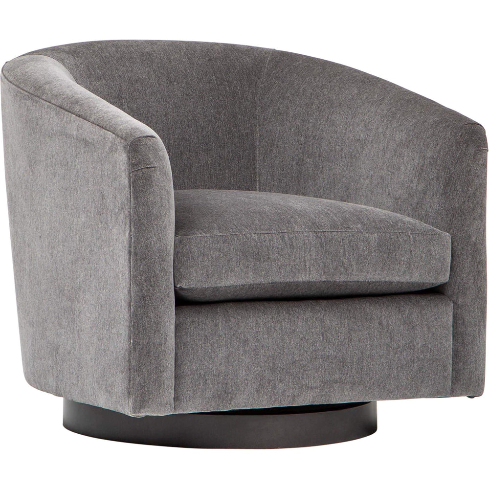 Coltrane Swivel Chair, Viceroy Fog - Modern Furniture - Accent Chairs - High Fashion Home
