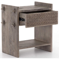 Columbus Nightstand, Aged Grey - Furniture - Bedroom - High Fashion Home
