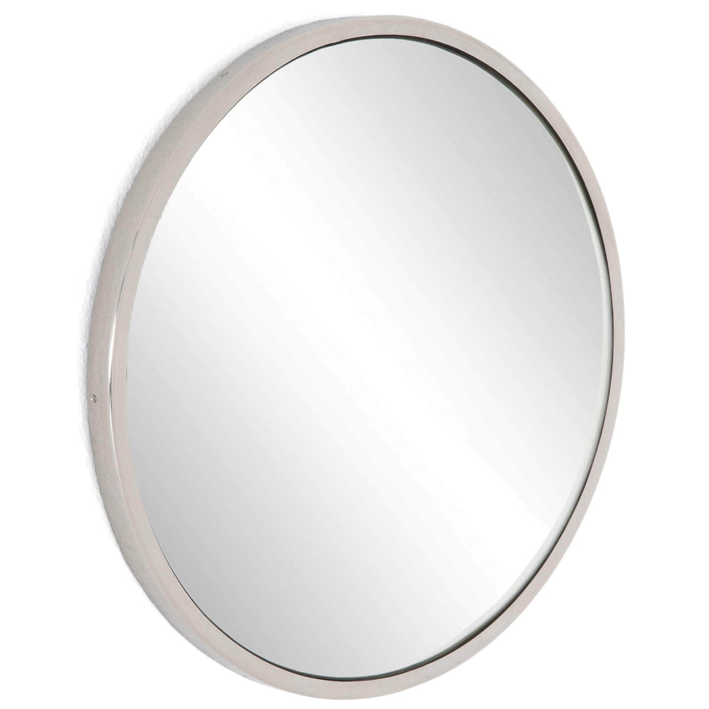 Convex Mirror, Shiny Nickel - Accessories - High Fashion Home