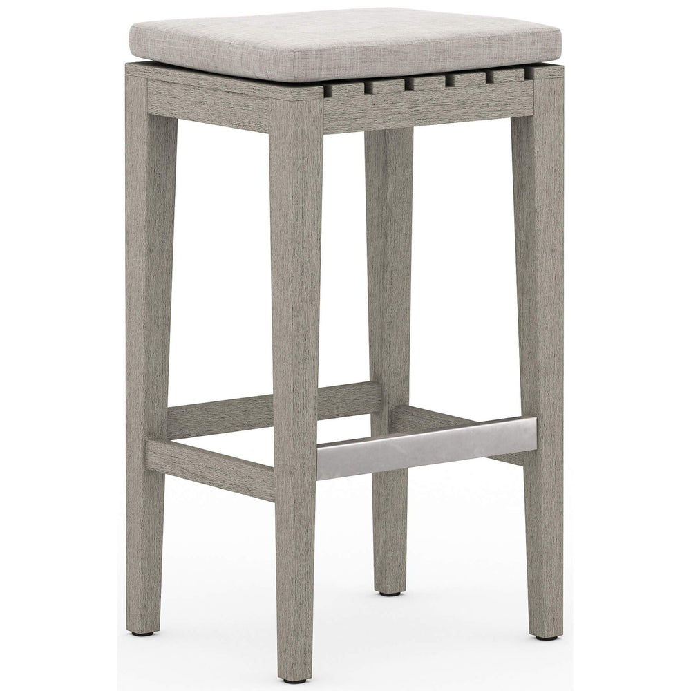 Dale Outdoor Bar Stool, Stone Grey - Furniture - Dining - High Fashion Home