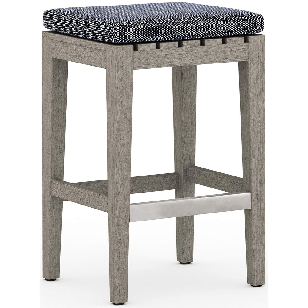 Dale Outdoor Counter Stool, Faye Navy - Furniture - Dining - High Fashion Home