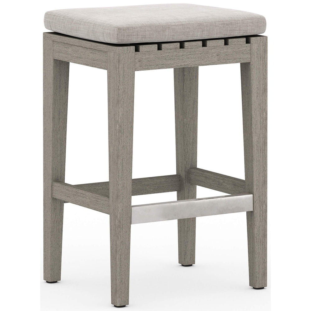 Dale Outdoor Counter Stool, Stone Grey - Furniture - Dining - High Fashion Home