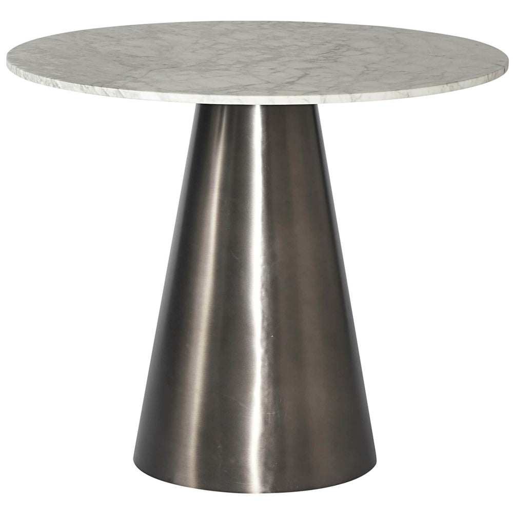 Damon Bistro Table, Gunmetal - Modern Furniture - Dining Table - High Fashion Home