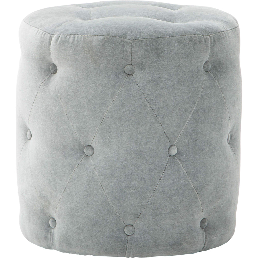 Darcy Ottoman, Lulu Slate-Furniture - Accent Tables-High Fashion Home
