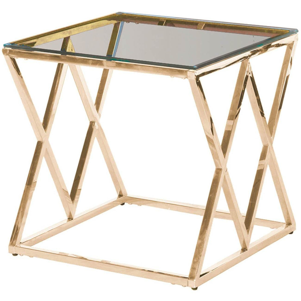 Diamond Accent Table, Gold - Furniture - Accent Tables - High Fashion Home