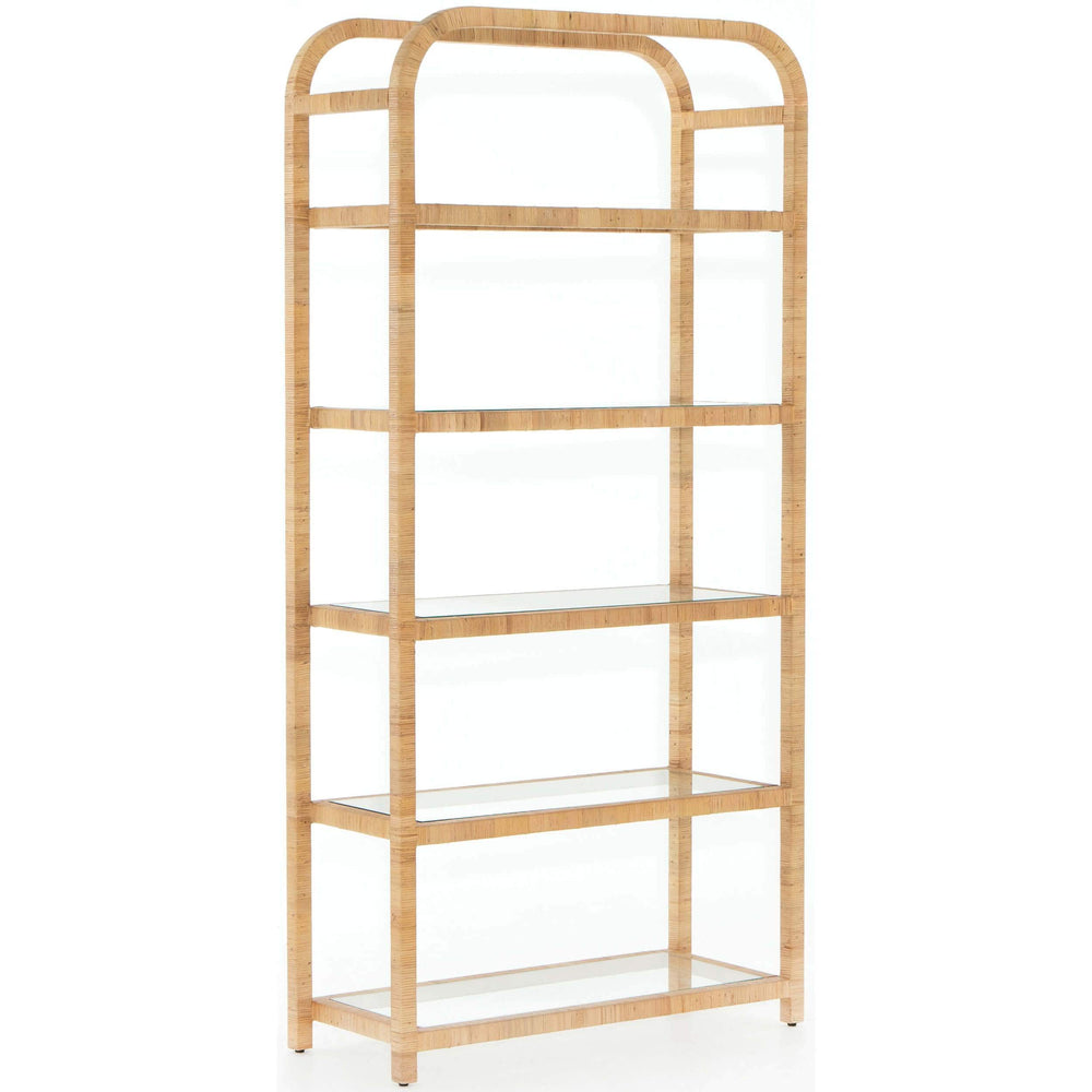 Dory Bookshelf, Honey Rattan - Furniture - Storage - High Fashion Home