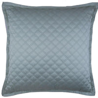 Double Diamond Coverlet Set, Sea Blue - Accessories - High Fashion Home