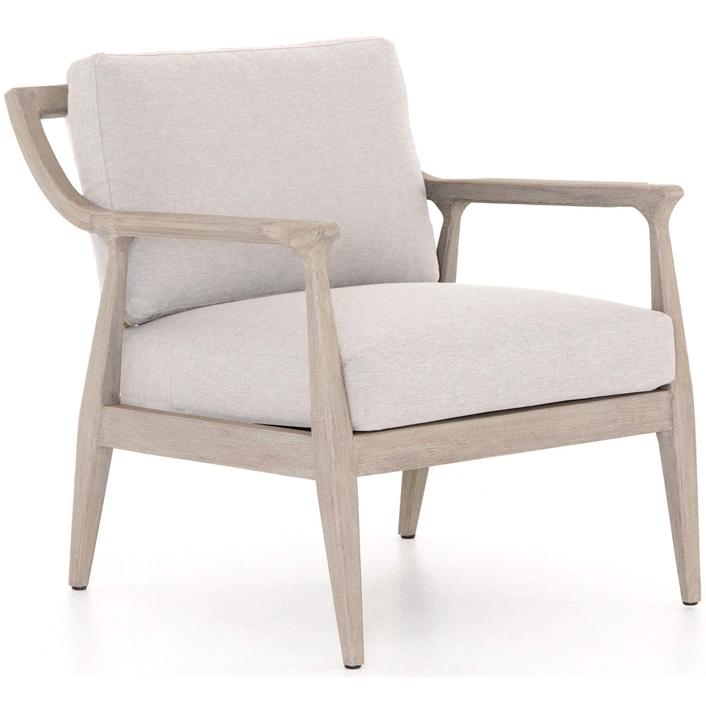 Elam Outdoor Chair, Stone Grey/Weathered Grey Frame - Furniture - Chairs - High Fashion Home