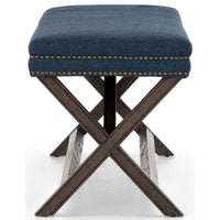 Elyse Bench, Indigo - Furniture - Chairs - High Fashion Home