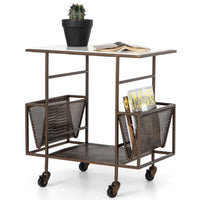 Felicity Rolling End Table, Iron Matte Brass - Furniture - Accent Tables - High Fashion Home