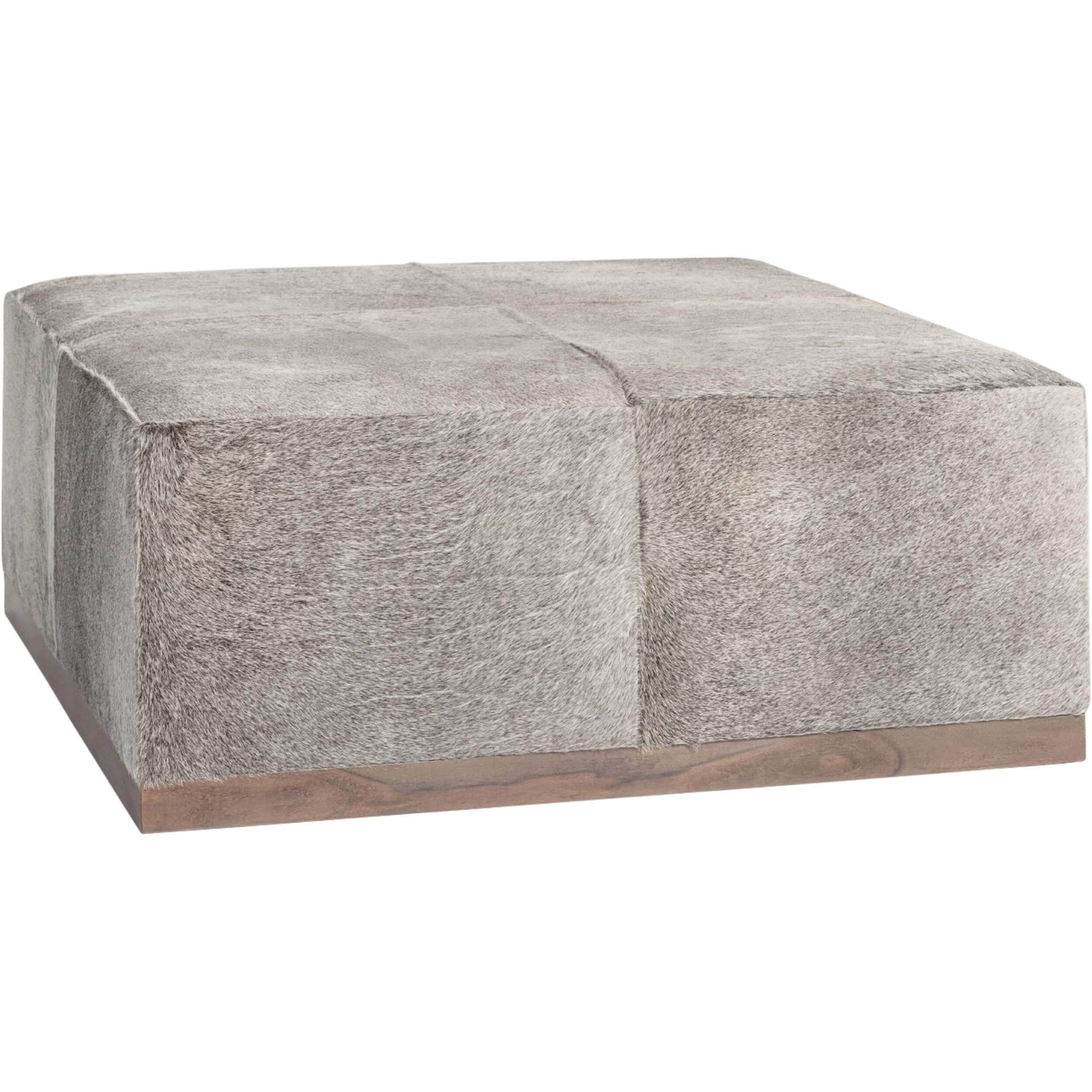 Felix Large Leather Ottoman Frosted Hide High Fashion Home