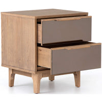 Finch Nightstand, Honey Oak - Furniture - Bedroom - High Fashion Home