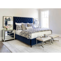 Franklin Bed, Navy - Modern Furniture - Beds - High Fashion Home