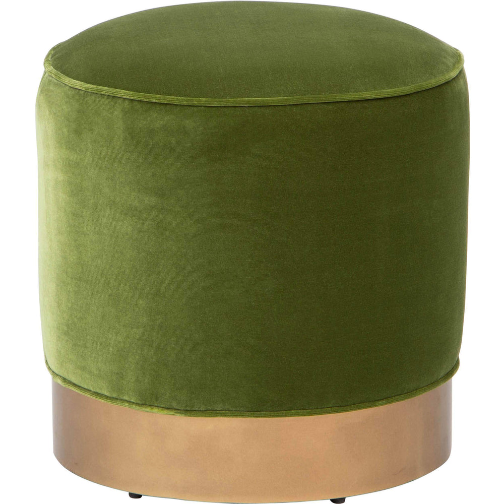 Gigi Swivel Ottoman, Olive Green - Furniture - Chairs - High Fashion Home