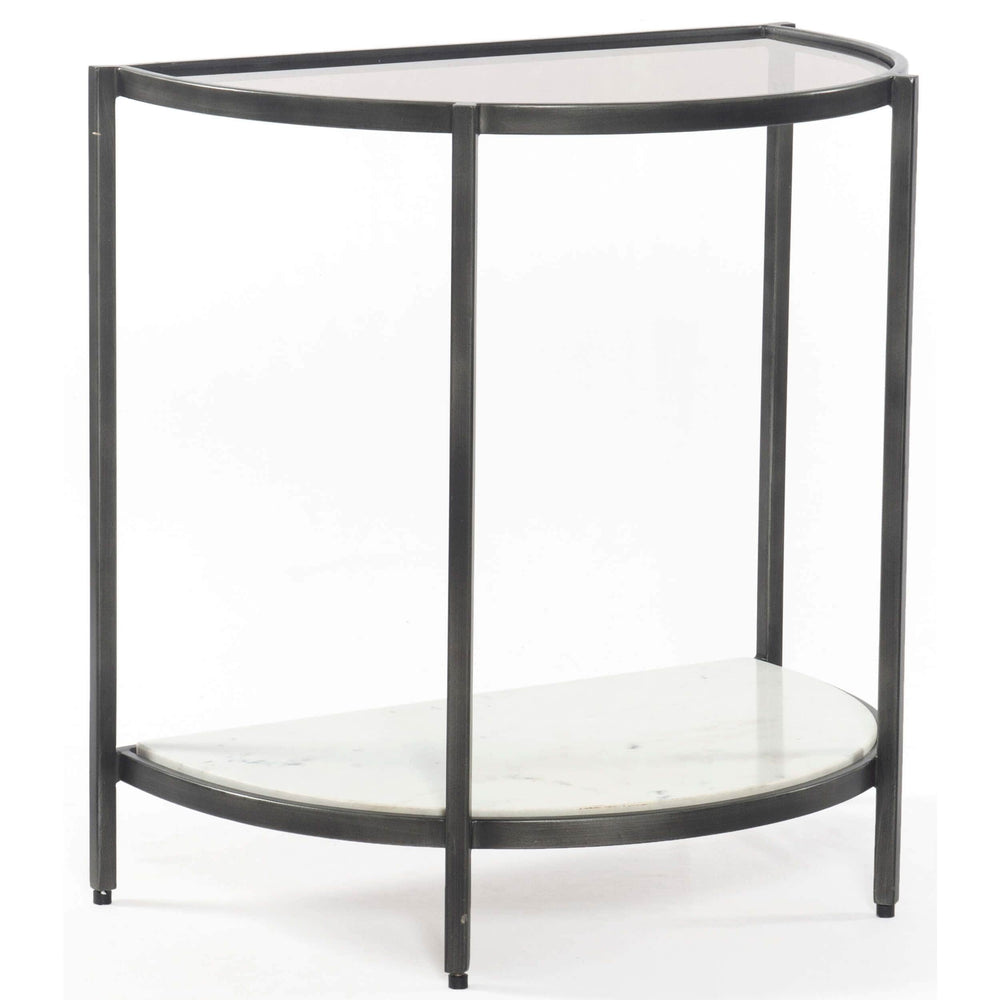 Grace End Table, Smoked Grey - Furniture - Accent Tables - High Fashion Home