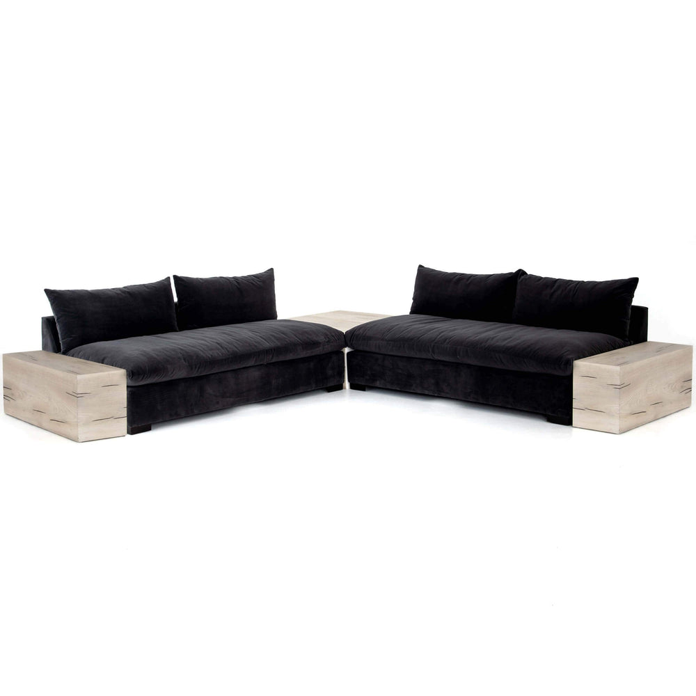 Grant Sectional w/Tables, Bleached Yukas Resin-Furniture - Sofas-High Fashion Home