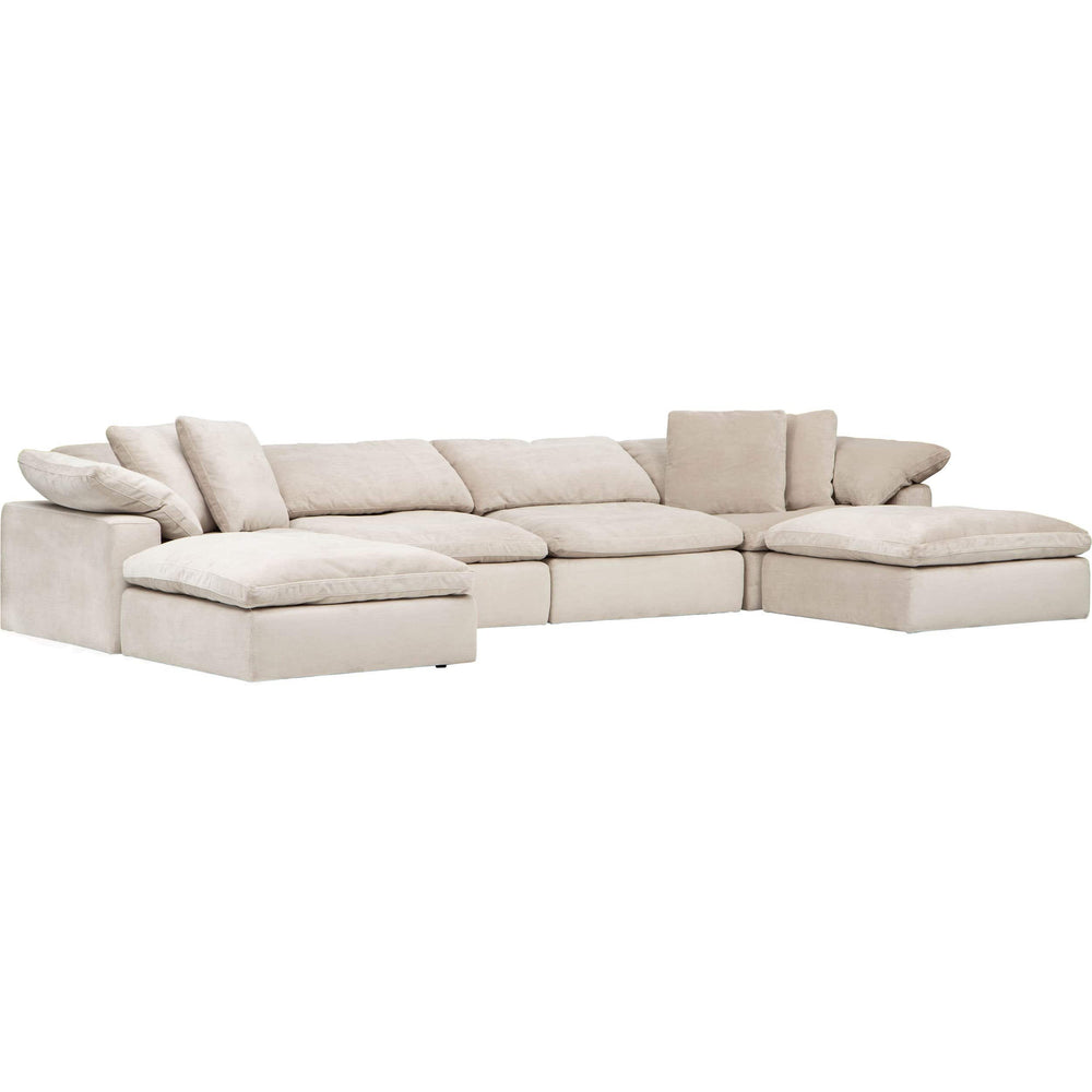 Mateo 6 Piece Modular Sectional, Romo Linen - Modern Furniture - Sectionals - High Fashion Home