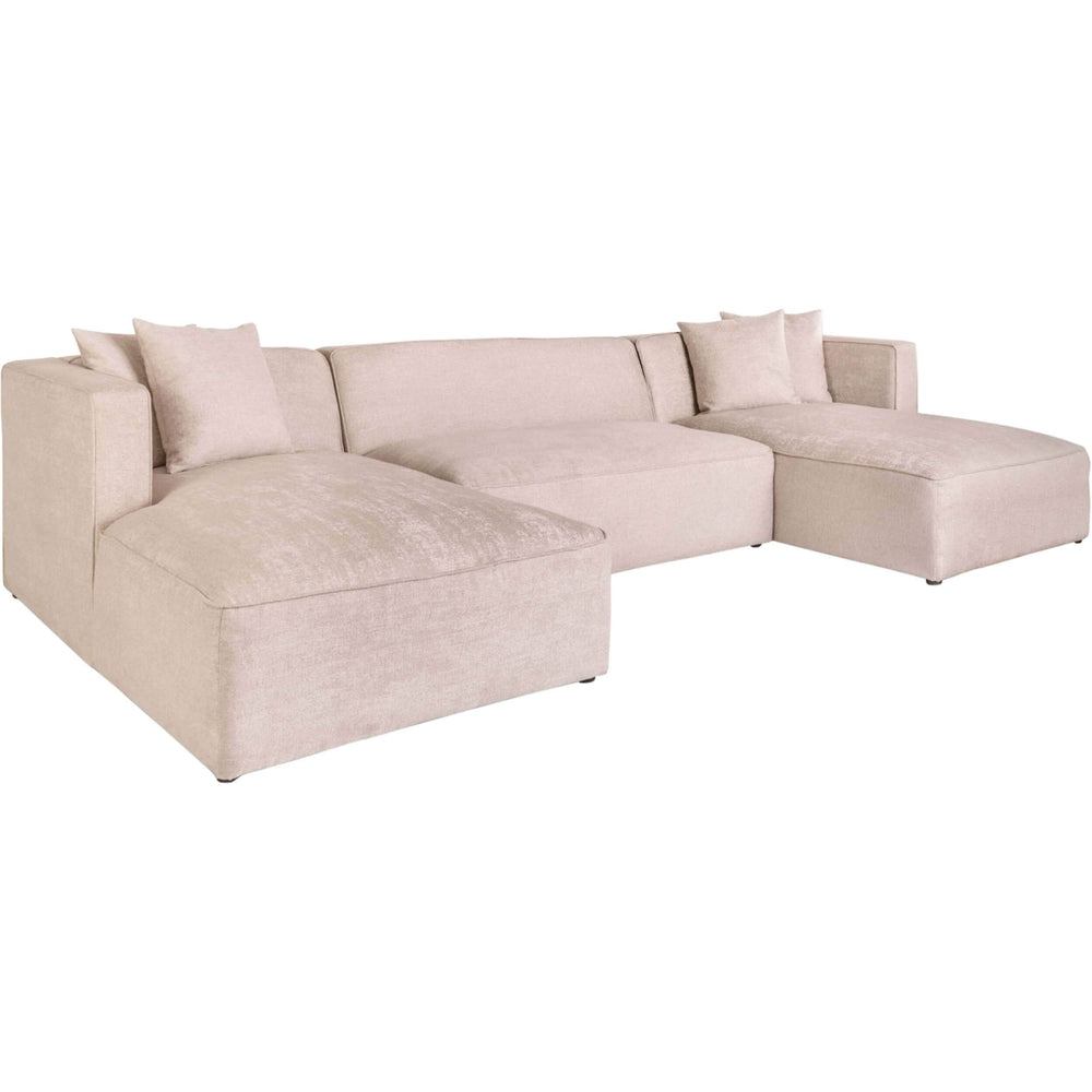 Haven Sectional, Champagne Twill - Modern Furniture - Sectionals - High Fashion Home